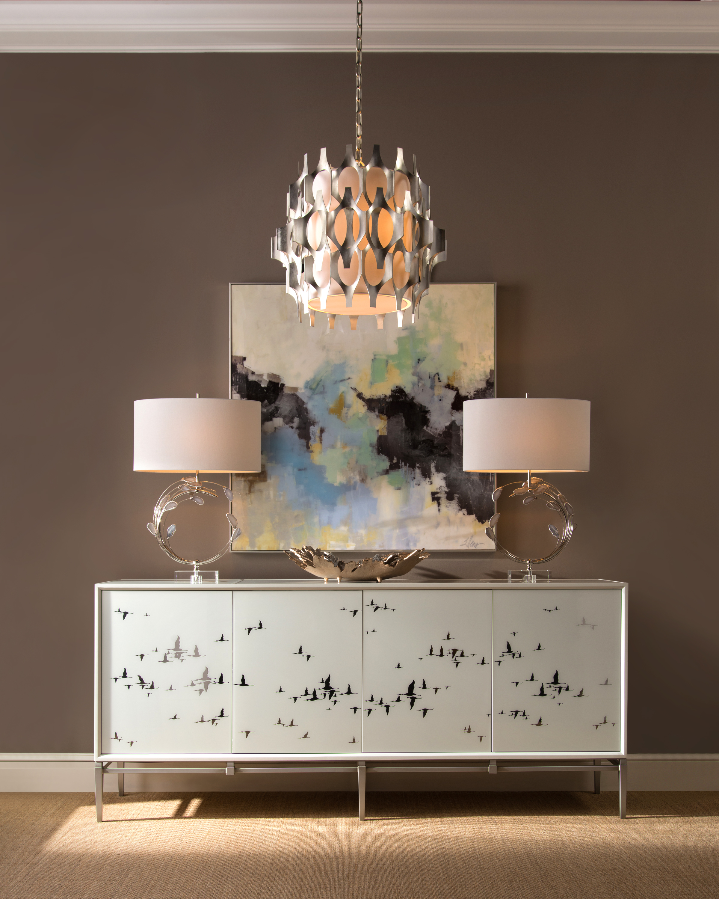 John-Richard-Silver-Bird-Migration-credenza