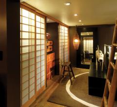 You can create additional ambient light for a bedroom if closet doors are translucent, such as these shoji panels.