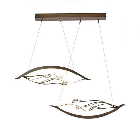 Synchronicity by Hubbardton Forge Courbé Duet LED Pendant